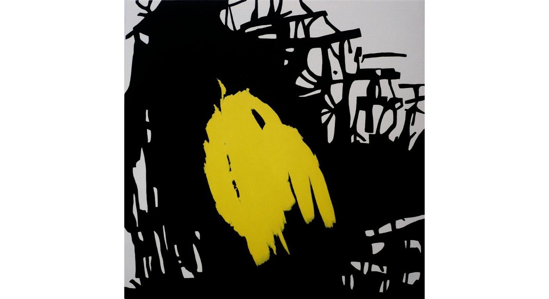Gestualidad contenida. Serie amarillo sobre negro